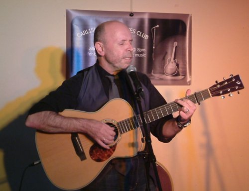 Phil Pipe performing at Carlisle Folk and Blues Club